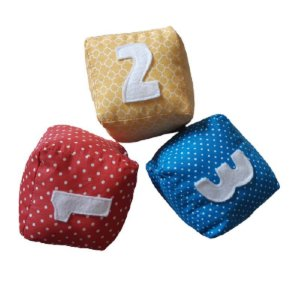 Kit Cubos Educativos Números de Tecido - Brinquedos para Bebês