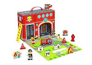 Brinquedo Educativo Caixa Divertida dos Bombeiros