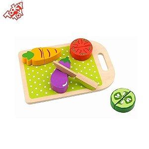 Brinquedo Educativo Comidinha de brinquedo - Kit cortando legumes