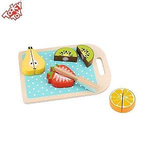 Brinquedo Educativo Comidinha de brinquedo - Kit cortando frutinhas