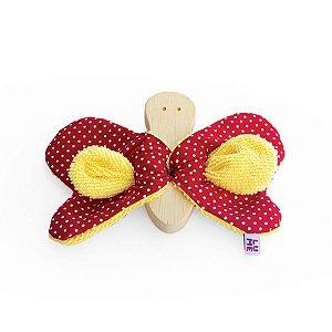 Brinquedos Sensoriais para Bebês em Madeira e Tecido - Borboleta