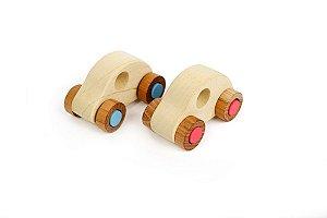 Brinquedo Educativo Mini Carrinho de Brinquedo de Madeira