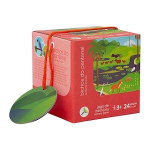 Brinquedo Educativo Jogo da Memória de Animais do Pantanal