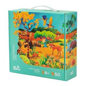 Quebra-Cabeça Infantil Gigante Cerrado Brasileiro - 60 peças
