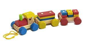 Brinquedo Educativo Trem Pedagógico de Madeira