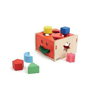 Brinquedo de Encaixe de Madeira - Encaixa na Caixa