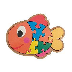 Quebra-cabeça infantil de animais - Peixe
