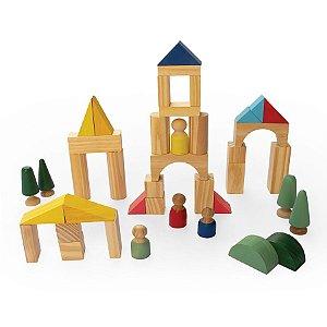 Brinquedo Educativo de Madeira Mini Mundo Cidadela