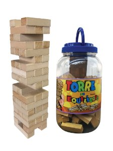 Brinquedo Torre de Equilíbrio em Madeira - Jenga