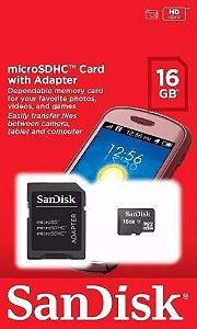 Cartão Micro SD 16GB