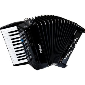 Acordeon Roland Fr1x Elétrico V-Accordion Preto Com Bag