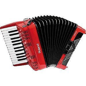 Acordeon Roland Fr1x Elétrico V-Accordion Vermelho Com Bag