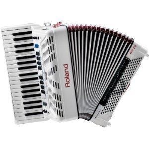 Acordeon Roland Fr3x Elétrico V-Accordion Branco Com Bag