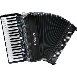 Acordeon Roland Fr3x Elétrico V-Accordion Preto Com Bag