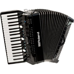 Acordeon Roland Fr4x Elétrico V-Accordion Preto Com Bag
