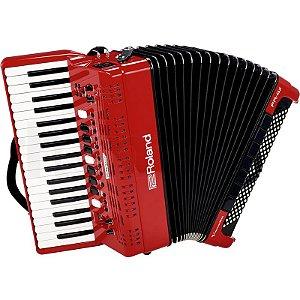 Acordeon Roland Fr4x Elétrico V-Accordion Vermelho Com Bag