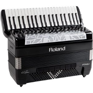 Acordeon Roland Fr8x Elétrico V-Accordion Preto Com Bag