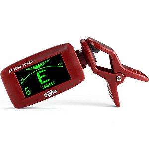 Afinador Cromatico At-200b Santo Angelo Clipe Bateria Vermelho