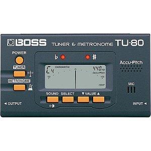 Afinador E Metrônomo Digital Boss Tu80
