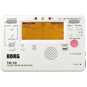 Afinador Metrônomo Korg Tm-50Pw Mic Branco