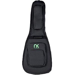 Bag Guitarra Semi Acústica NewKeepers Couro Reconstituído Preto