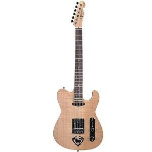 Guitarra Tagima Telecaster Cacau Santos CS1 Com Case Tweed