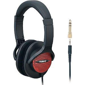 Headphone Fone De Ouvido Roland Rh-a7 Rd Com Adaptador