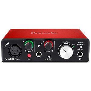 Interface De Audio Focusrite Scarlett Solo Segunda Geração