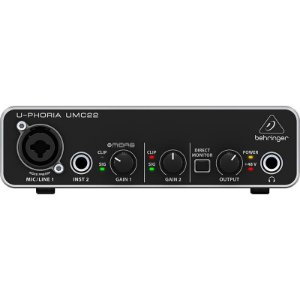 Interface De Áudio Usb Behringer Umc22