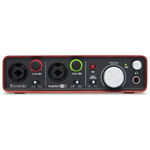 Interface De Áudio Usb Focusrite Scarlett 2i2