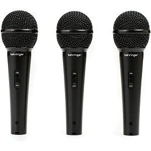 Kit Com 3 Microfones Behringer Xm1800s Com Estojo