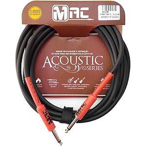 Cabo Para Instrumentos Mac Cabos Acoustic Series 35m Preto Plug Reto