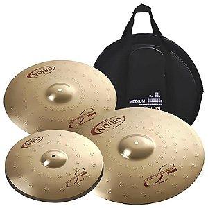 """Kit De Pratos Orion Revolution Pro Rp90 14"""" 16"""" 20"""" Com Bag"""