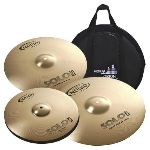 "Kit De Pratos Orion Solo Pro PR90 14"" 16"" 20"" Com Bag"
