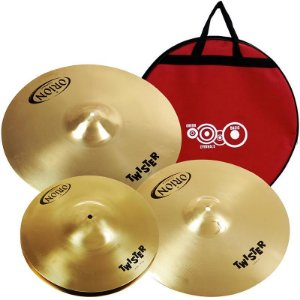 "Kit De Pratos Orion Twister Twr90 14"" 16"" 20"" Com Bag"