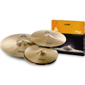 "Kit De Pratos Stagg Axk 14"" 16"" 20"""
