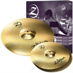 "Kit De Pratos Zildjian Planet Z Plz1418 Hi Hat 14"" Crash/Ride 18"""