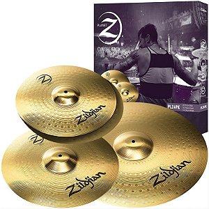 "Kit De Pratos Zildjian Planet Z Plz4pk 14"" 16"" 20"""