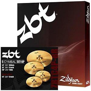 "Kit De Pratos Zildjian Zbt Zbtc4pbr 14"" 14"" 16"" 20"""