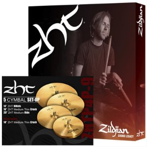 "Kit De Pratos Zildjian Zhtp4p-9 14"" 16"" 18"" 20"""
