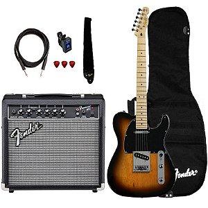 Kit Guitarra Fender Squier Affinity Telecaster Frontman 15 Brown Sunburst