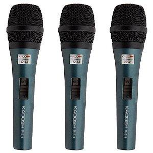 Kit Microfone Kadosh K-3.1 Com 3 Peças