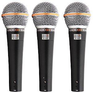 Kit Microfone Kadosh K-58A Com 3 Peças
