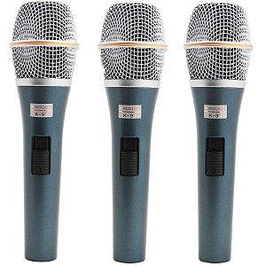 Kit Microfone Kadosh K-98 Com 3 Peças