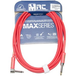 Cabo Para Instrumentos Mac Cabos Max Series 4.57m Vermelho P10 L