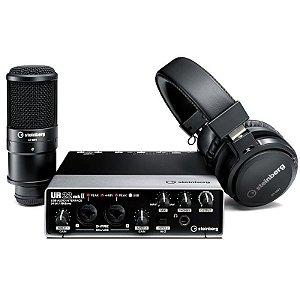 Kit gravação Interface de Áudio Steinberg UR22 MkII Mk2