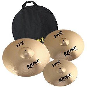 "Kit Prato Krest Hx Series Hxset3 14"" 16"" 20"" Com Bag"