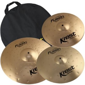 Kit Pratos B8 Krest Fusion Series 14 16 20 Bronze Com Bag