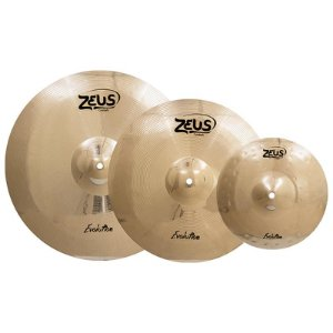 "Kit Prato Zeus Evolution Bronze B10 14"" 16"" 20"" Com Bag"