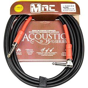 Cabo P/ Instrumentos Mac Cabos Acoustic Series 4,57m Preto Plug L